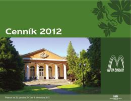 Smrdáky - cenník 2012