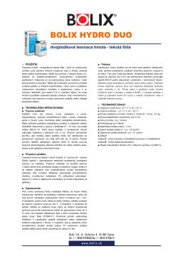 dvojzložková hydroizolácia Bolix hydro duo