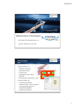 30.05.2012 1 Možnosti betonu ve Scia Engineer