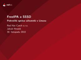 FreeIPA a SSSD - Pokročilá správa uživatelů v Linuxu