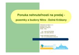 PDF 2.2MB - Nitrianska investičná