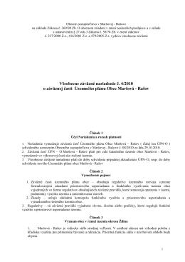 VZN č. 4/2010 Maršová