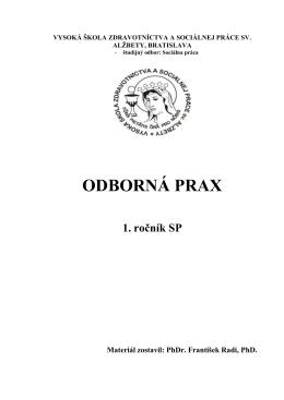 ODBORNÁ PRAX - socprac8.sk