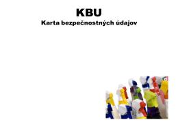 KBU Karta bezpečnostných údajov