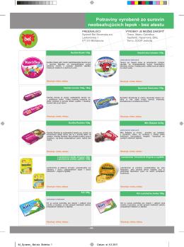 Celiatica 2011/2012 – Bezlepkové potraviny