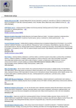zoznam elektronických zdrojov vo formáte PDF