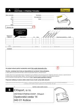 formulár - Exisport.sk