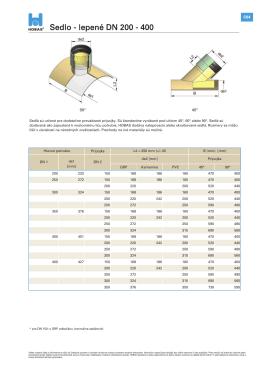 Sedlo - lepené DN 200 - 400