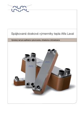 Katalóg - spájkované doskové výmenníky tepla Alfa Laval