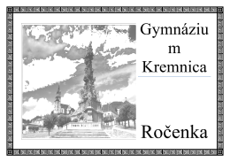 Gymnáziu m Kremnica