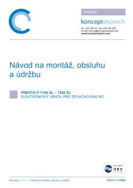 NÁVOD [pdf] - Koncept Ekotech