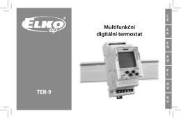 TER-9 Multifunkční digitální termostat
