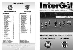 FK INTER Bratislava ŠK Lozorno Ako nastúpia?