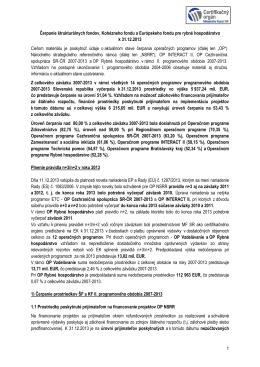 2007-2013 - Monitoring Fondov EÚ