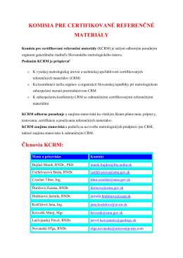 Zoznam členov KCRM (pdf, 27 kB)