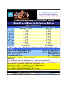 aktuálny cenník farbenia diskov (pdf)