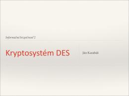 Šifrovací systém DES