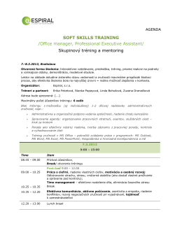 Soft Skills Training + admininstrative support