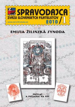 1 emisia žilinská synoda - Zväz slovenských filatelistov