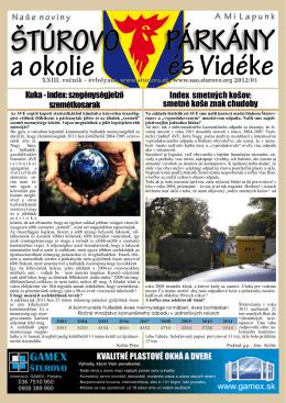 2012/1 - Mesto Štúrovo