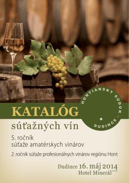 Katalóg vín 2014