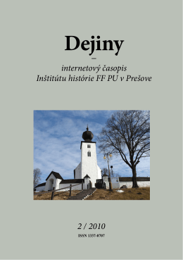 pdf - 17.9 MB - Dejiny - Internetový časopis