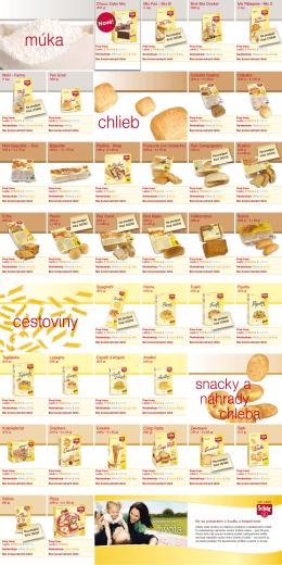 katalóg bezlepkových produktov od firmy Schar