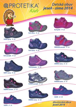 Detská obuv jeseň - zima 2014
