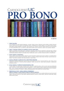 PRO BONO ULC 01 2014