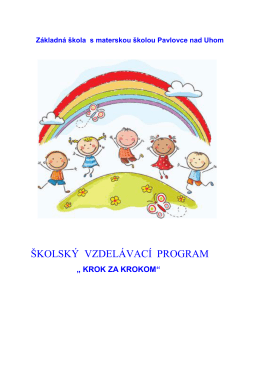 Vzdelávací program Materskej školy Pavlovce nad Uhom