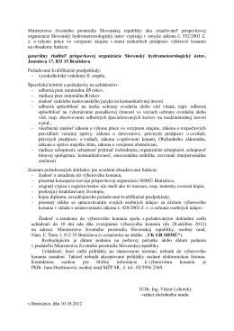 Ministerstvo životného prostredia Slovenskej republiky ako