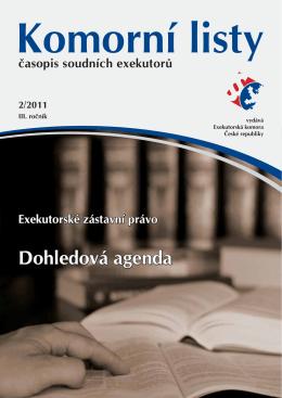 Komorní listy 02/2011 - Exekutorská komora České republiky