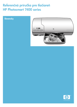 Referenčná príručka pre tlačiareň HP Photosmart 7400 series