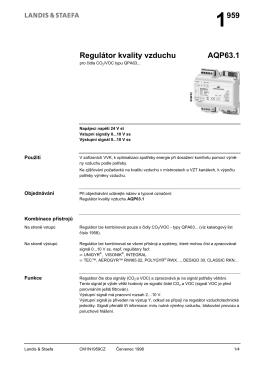 1959 Regulátor kvality vzduchu AQP63.1