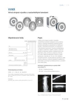 Vírivá stropná výustka s nastaviteľnými lamelami Popis