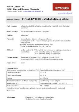 Označenie výrobku: FEYALKYD 302