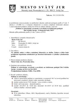 termín predkladania ponúk do 28.1.2015