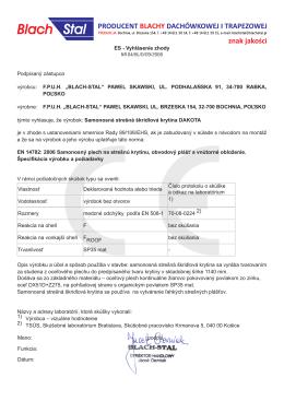 ES - Vyhlásenie zhody NR 04/BL/D/09/2008 Podpísaný