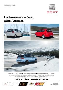 Limitovaná edícia Coool Altea / Altea XL