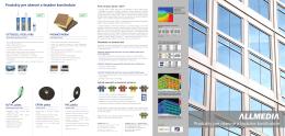 Produkty pre okenné a fasádne konštrukcie