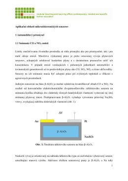 1 Aplikačné oblasti mikroelektronických senzorov 1