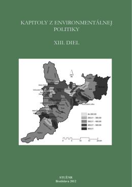 Kapitoly z environmentálnej politiky XIII.diel [.pdf]