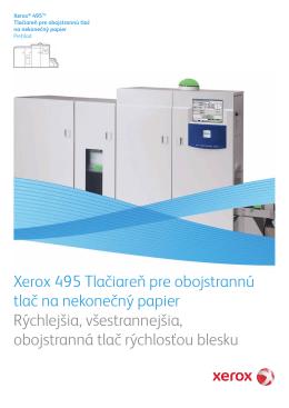 Xerox 495 Tlačiareň pre obojstrannú tlač na