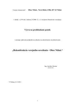 Obec Nižná , Nová Doba č