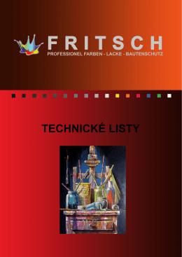Technické listy