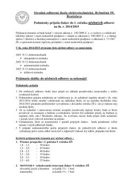 Stredná odborná škola elektrotechnická, Rybničná 59