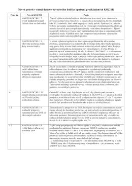 Návrh priorít v rámci daňovo-odvodového balíčka opatrení