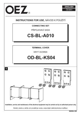 Pripájacia sada - CS-BL-A010, OD-BL-KS04