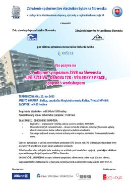 2. odborné sympózium ZSVB na Slovensku