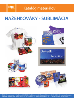 NAŽEHĽOVÁKY - SUBLIMÁCIA - UHAL trade